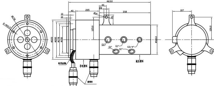 该系列产品可与奔联各种导电滑环配合以同时传输电源