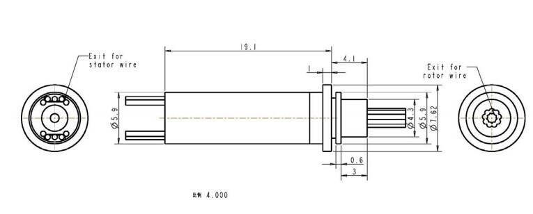 TMS10超微型滑环尺寸图