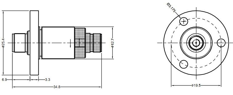 单路高频滑环尺寸图